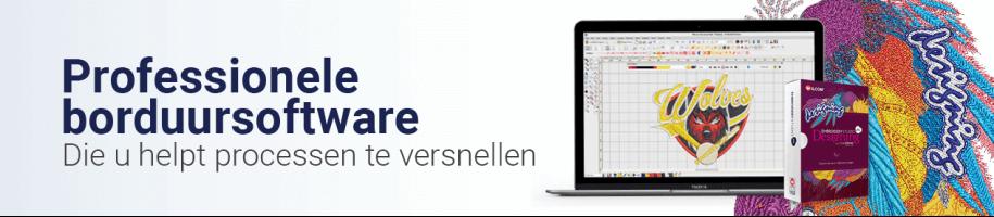 Borduursoftware voor diverse mogelijkheden ,voor zowel professioneel als semi-professioneel digitaliseren.